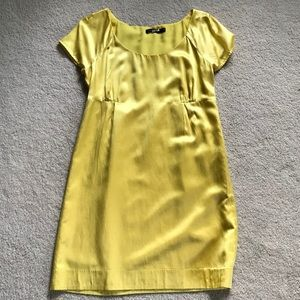 Limited yellow short sleeve dress